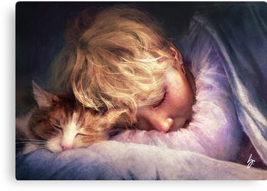The Boy With The Cat Canvas Print By Graphicfighter In 2021 Fan Art Jimin Fanart Bts Fanart