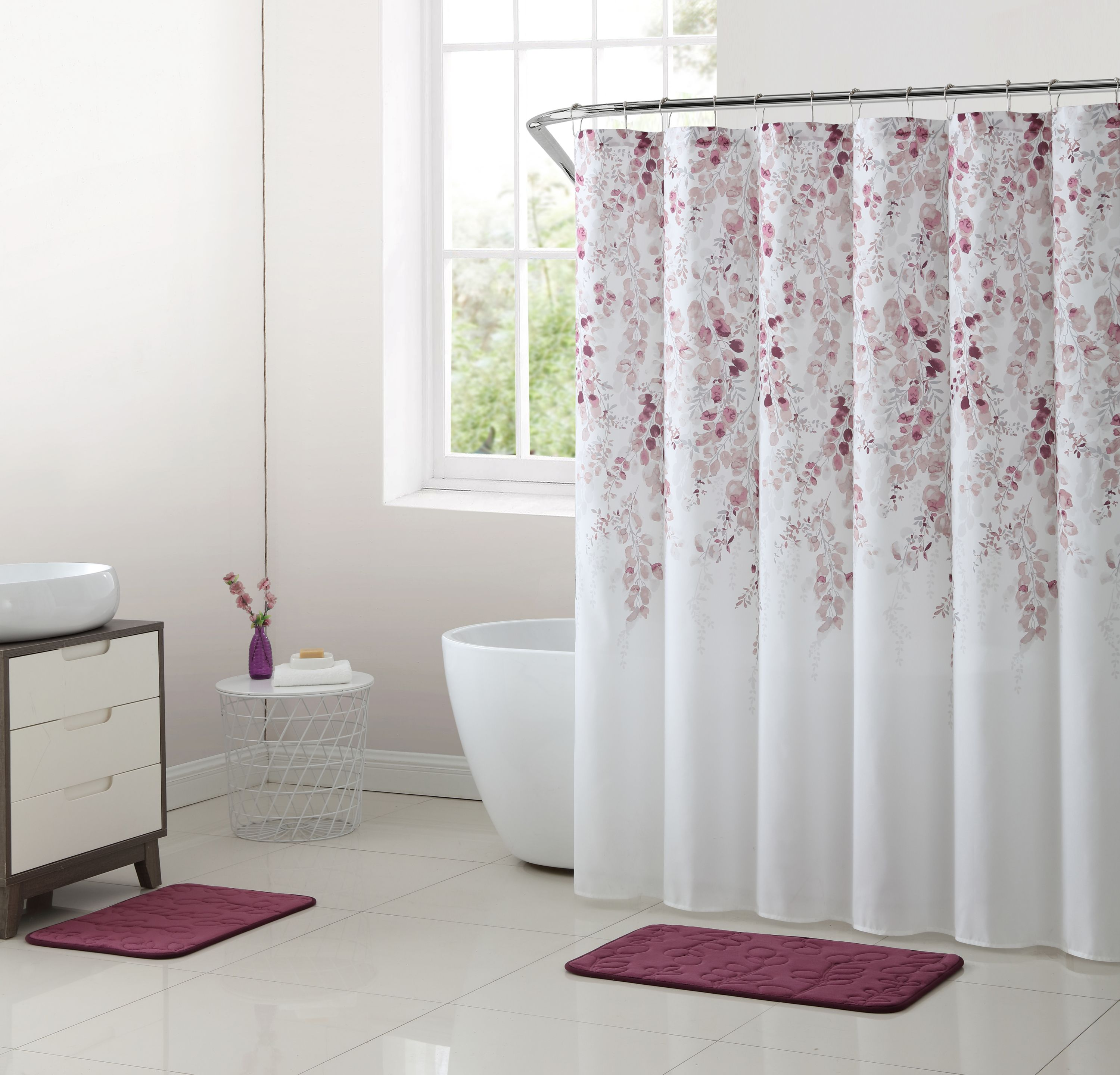 Home Shower curtain sets, Ombre shower curtain, Fabric