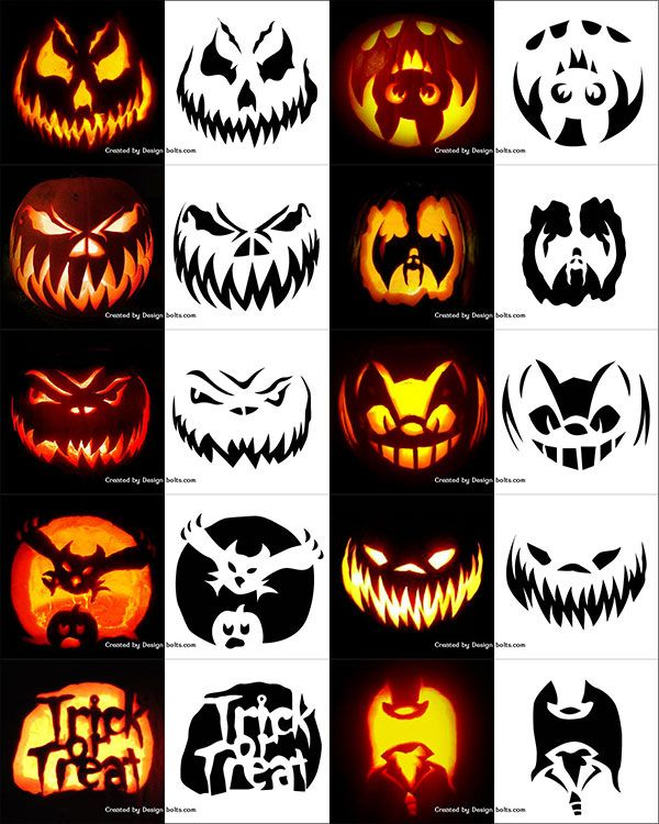 10-Free-Halloween-Scary-Pumpkin-Carving-Stencils,-Patterns