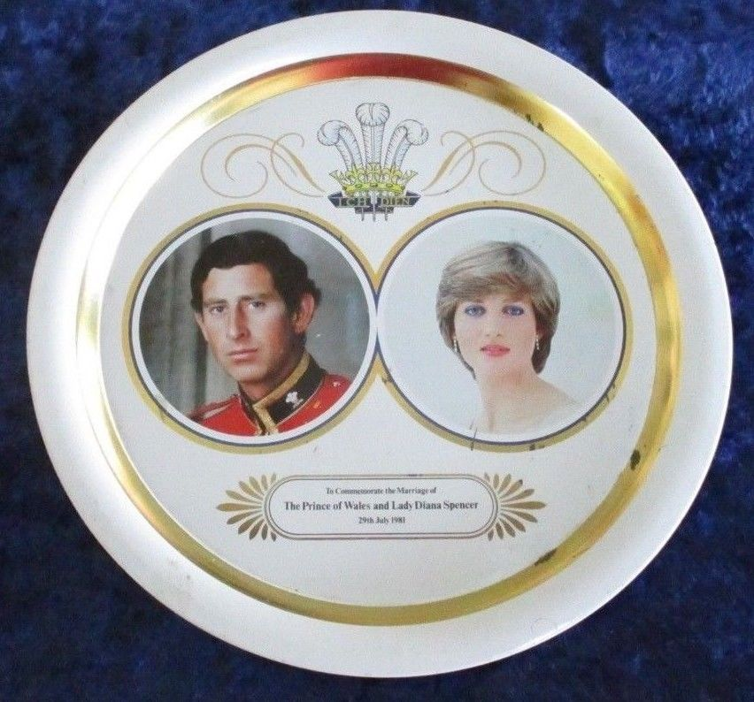 Lady Diana Wedding Glasses: Lady Diana Spencer And Prince Charles