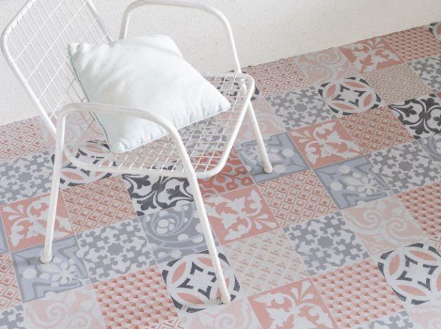 L Inspiration Du Jour Le Sol En Vinyle Effet Carreaux De Ciment Elle Decoration Sol Vinyle Carreau De Ciment Carreaux De Sol
