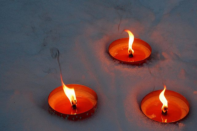 Candles In The Snow Of Lapland Candles Festival Lights Winter Equinox
