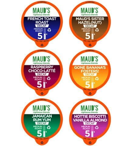 Decaf Flavored Coffee Collection (6 Blends) 100ct