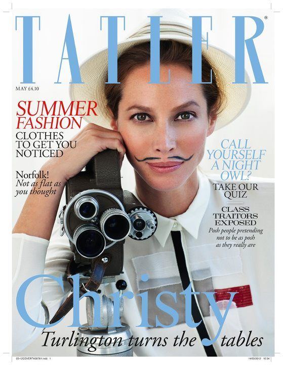 pluriel de couvre lit Christy Turlington Looks Stunning Even with a Mustache on the  pluriel de couvre lit