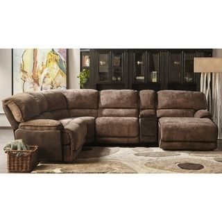 Fabulous Lyke Home Kennan Mocha Brown Two Tone Power Recliner Forskolin Free Trial Chair Design Images Forskolin Free Trialorg