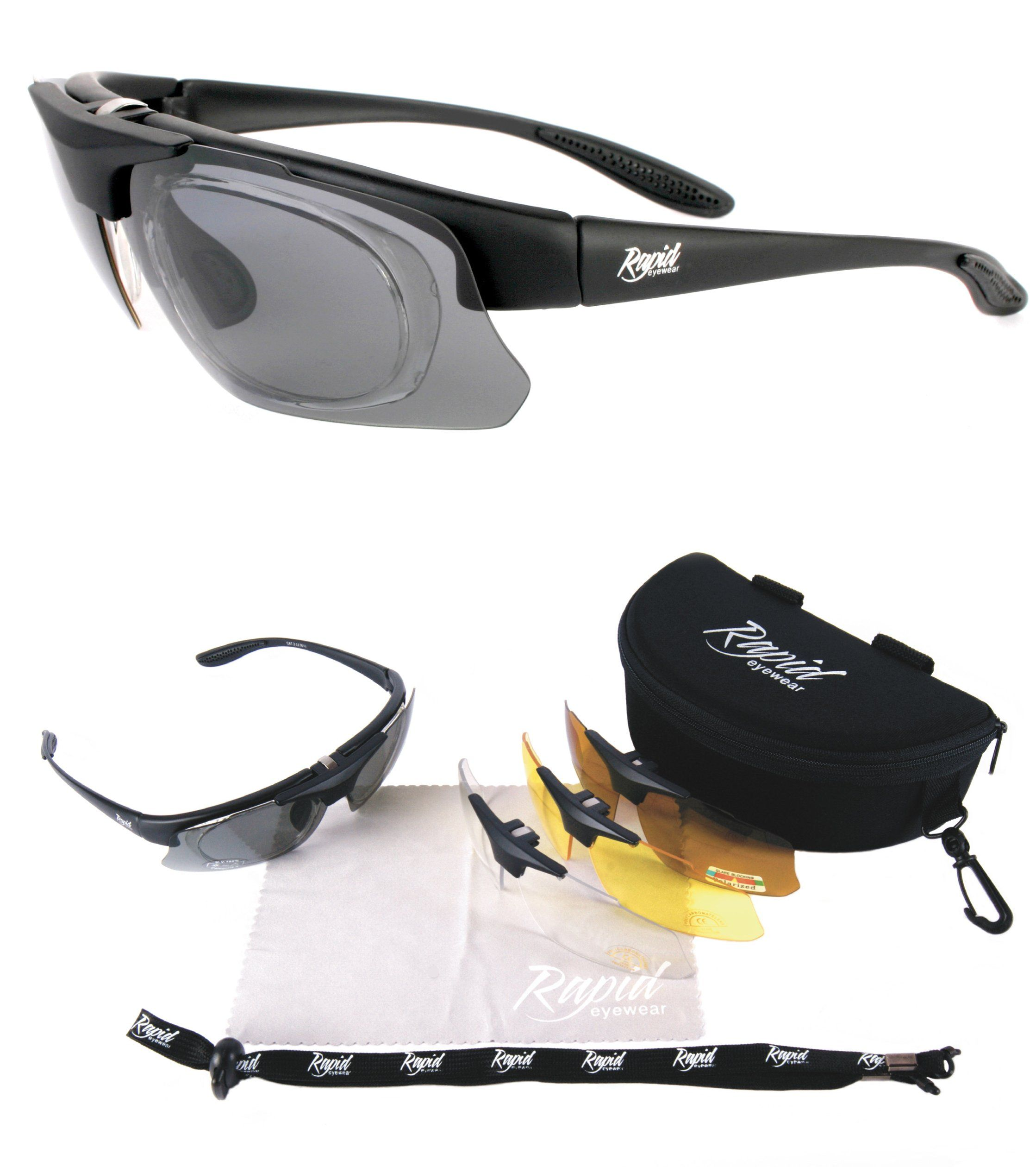cbdf9aaac2d For Men   Women. UV400 Protection  Amazon.ca  Sports   Outdoors.     Rx Pro  Performance + PRESCRIPTION SPORT SUNGLASSES with Interchangeable POLARIZED  ...