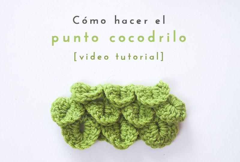 Cómo hacer el punto cocodrilo en ganchillo - video tutorial. How to ...