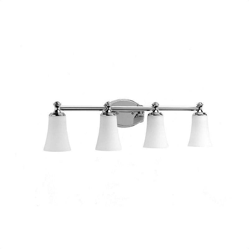 Progress lighting p2987 four light reversible bathroom fixture with etched white