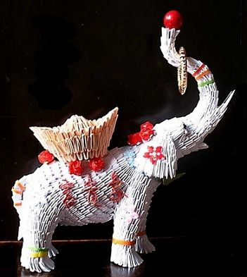 3d origami circus elephant creating with paper pinterest 3d origami origami and 3d - Animaux origami 3d ...