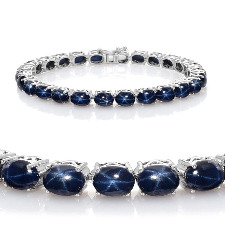 handmade blue sapphire sterling tennis products diffused sapphires bracelet shipping e free genuine silver br