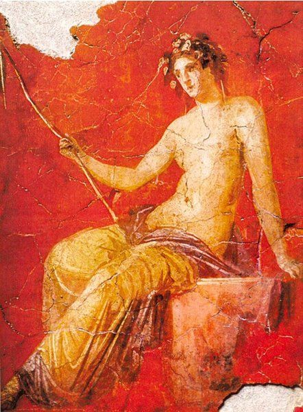 Mural painting from pompeii figure portrait painting for Ancient greek mural