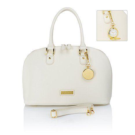 Joy Iman 21 Section Genuine Leather Handbag Watch 80