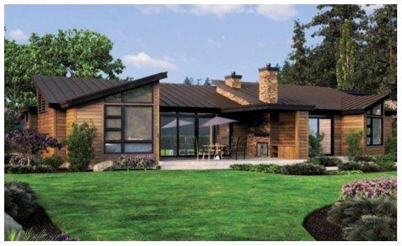 Dise os de casas modernas americanas casa pinterest for Diseno de casas de campo modernas