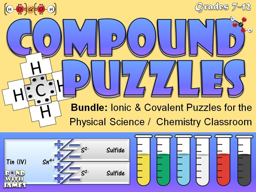 Ionic And Covalent Compound Puzzles For The Physical