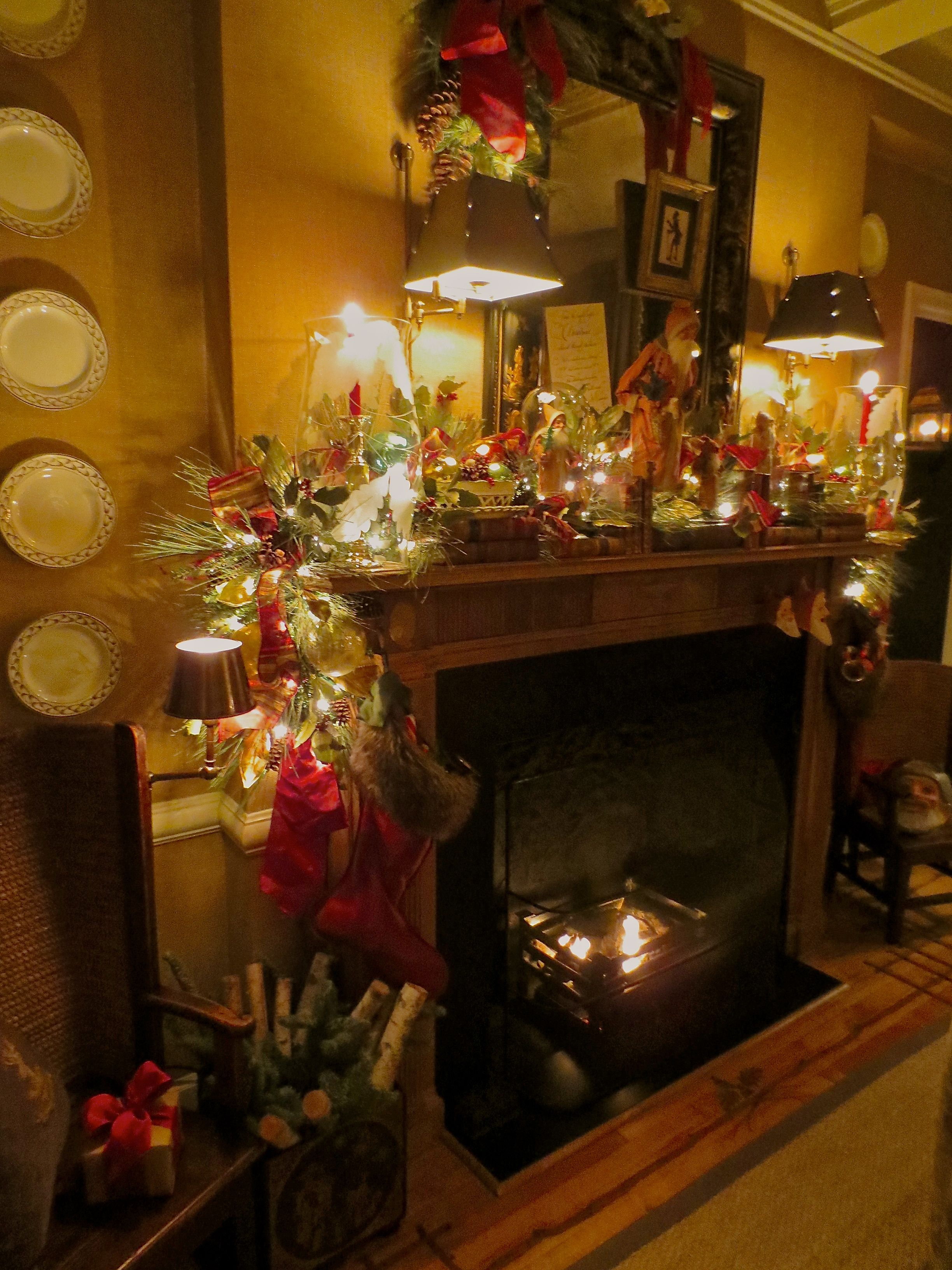 The Dining Room Mantel With Antique Long Coat German Santa Candy Delectable Dining Room In German Inspiration Design