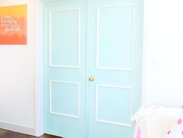 ▷ 1001 + idées originales comment peindre une porte intérieure - Peindre Un Encadrement De Porte