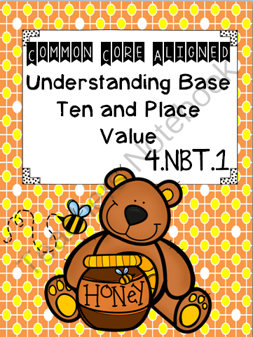 Understanding Base Ten and Place Value common core aligned from TeachingLife on TeachersNotebook.com