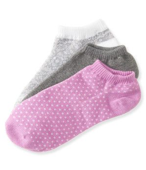 3-Pack Lace, Dot & Solid Ped Socks