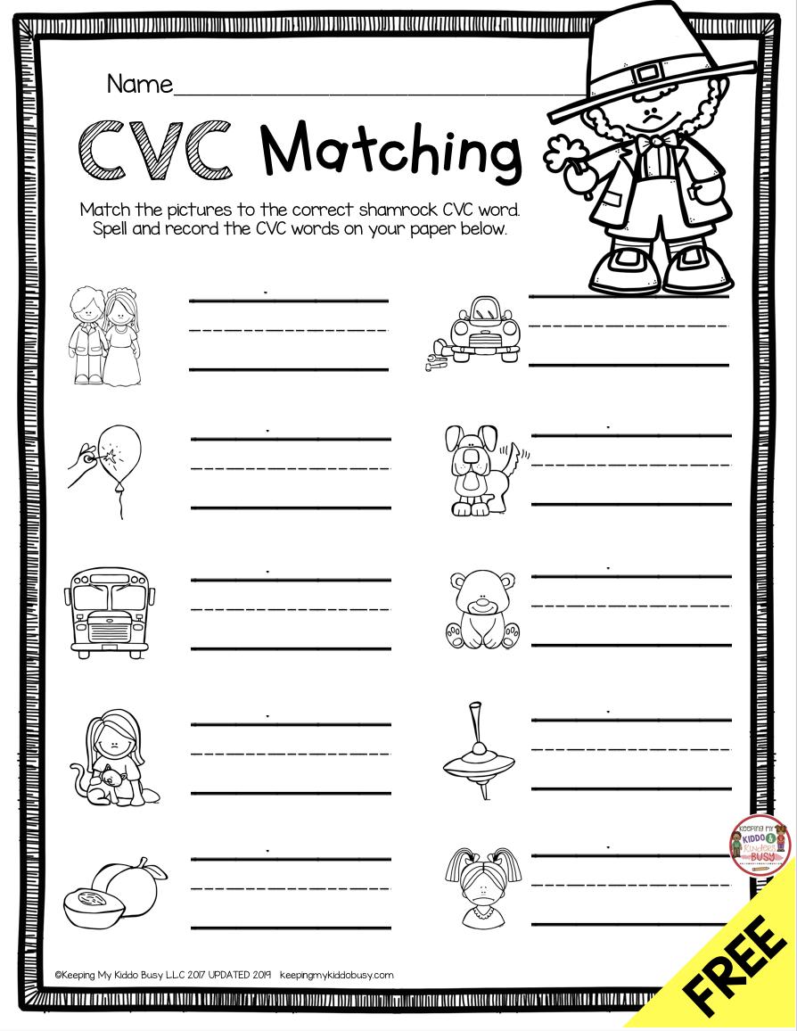 Free March Math And Literacy Centers Keeping My Kiddo Busy Literacy Centers Kindergarten Cvc Words Phonics Kindergarten [ 1156 x 894 Pixel ]