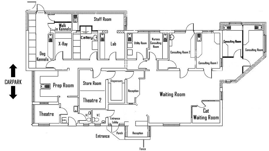 Veterinary Clinic Floor Plans L Shaped