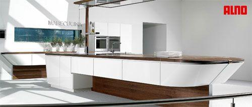 cocinas diseo de cocina con muebles suspendidos de diseo marino vistas desde el frente