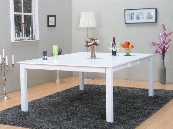 Vierkante Eettafel Wit.Sirius Vierkante Eettafel 145x145 Cm Wit Vierkante
