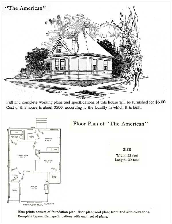 The American 1905 Hodgson House Plans The 1905 Hodgson House Plan Book Shows Many Home Designs That House Plans Simple Floor Plans Tiny House Ideas Cottages