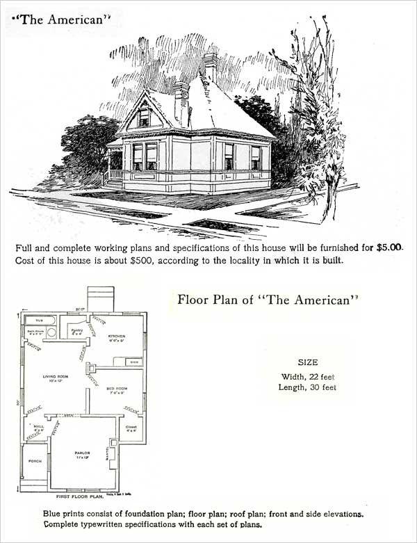 The American 1905 HODGSON HOUSE PLANS The 1905 Hodgson house plan ...