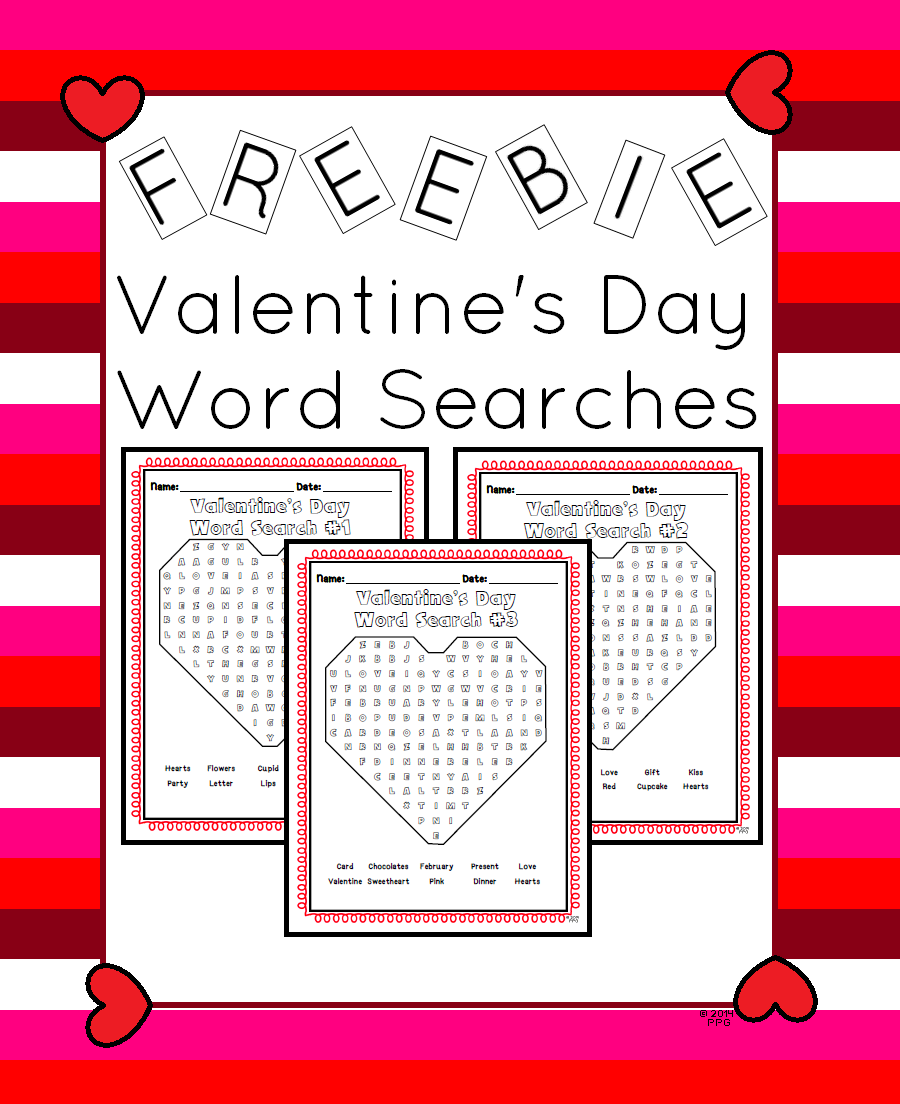 Freebie Valentine S Day Word Searches Slp Valentine S Day