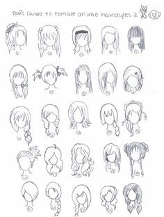 How To Draw Anime Characters Step By Step For Beginners Google Search How To Draw Hair Anime Hair Manga Hair