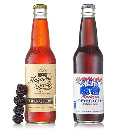 Harmony Springs Soda Labels Before & After