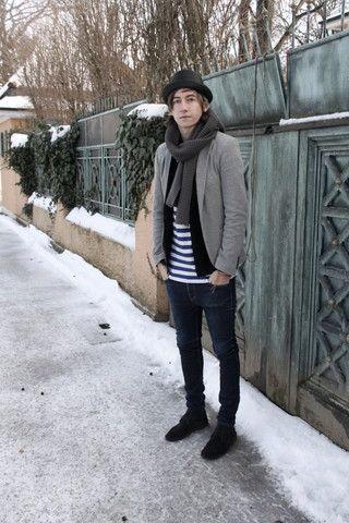 H Black Hat, Zara Black Shoes, Cheap Monday Jeans, Zara Grey ...