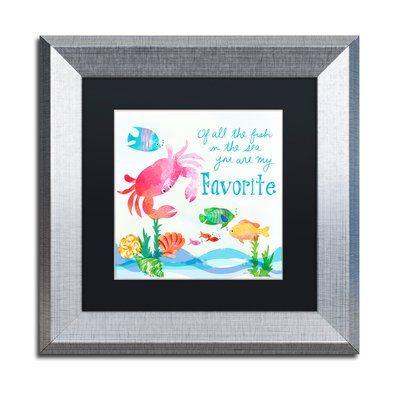 Trademark Art 'Crab' Framed Graphic Art Print