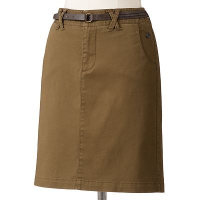 SONOMA life + style Modern Fit Twill Skirt