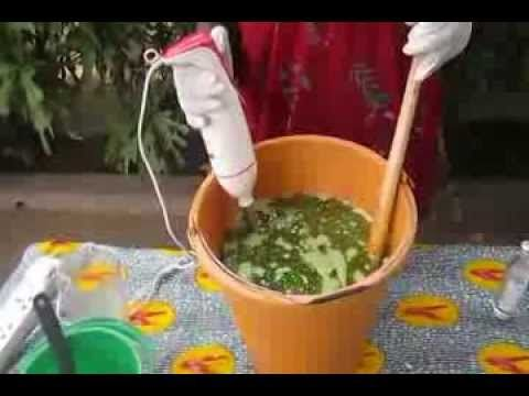 ▷ Making Fresh Neem Leaves soap by Skin Passion - YouTube