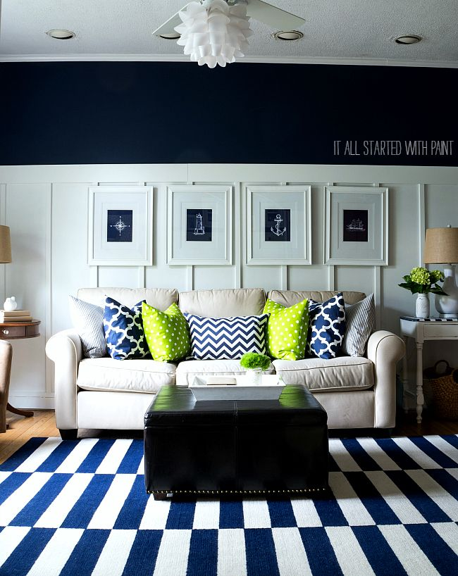 On The Fence It All Started With Paint Navy Blue Living Room Blue Living Room New Living Room