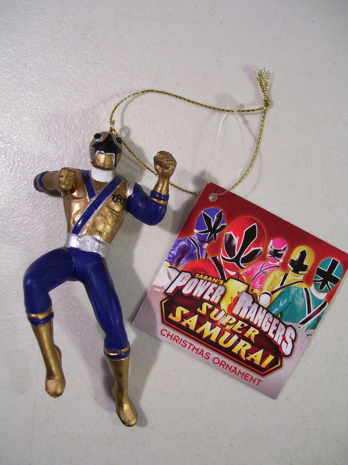 Power Rangers Super Samurai Gold Blue Ranger Christmas Ornament ...