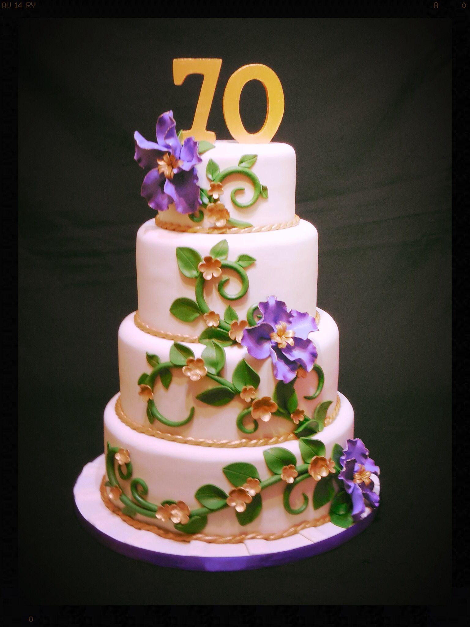 70th Birthday Cake My Cakes Pinterest 70th Birthday Cake 70