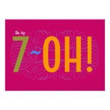 70th Birthday Invitation Idea
