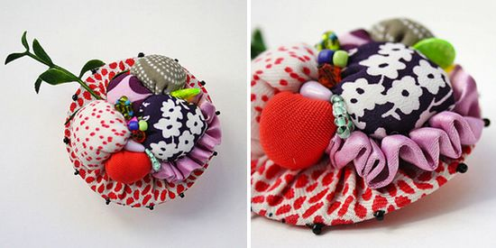 i want my hobo (fabric brooch for spring)