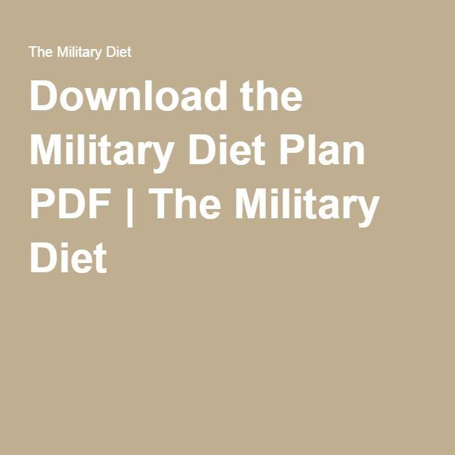 3 day military diet menu pdf