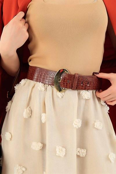 14 95 Tl Gold Tokali Kahve Bayan Kemer 27803k Modamizbir 2020 Moda Stilleri Kemer Giyim