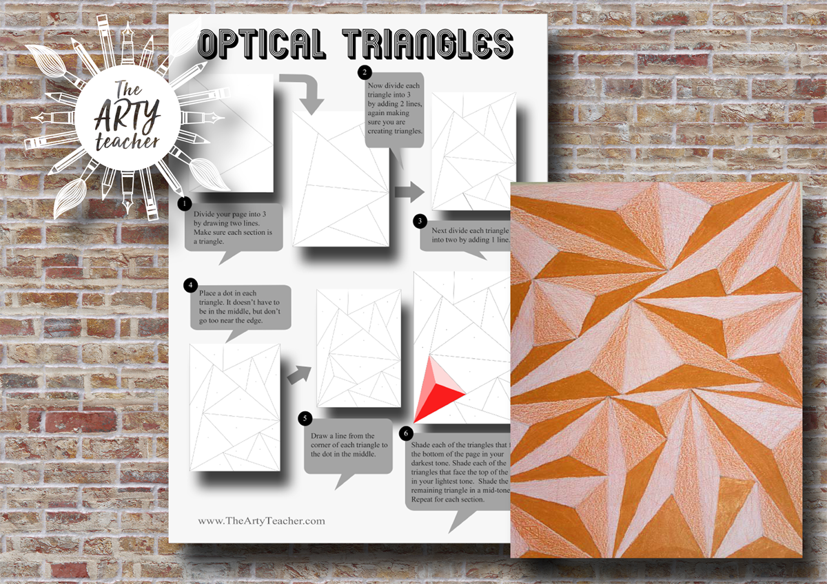 Optical Triangles Art Activity