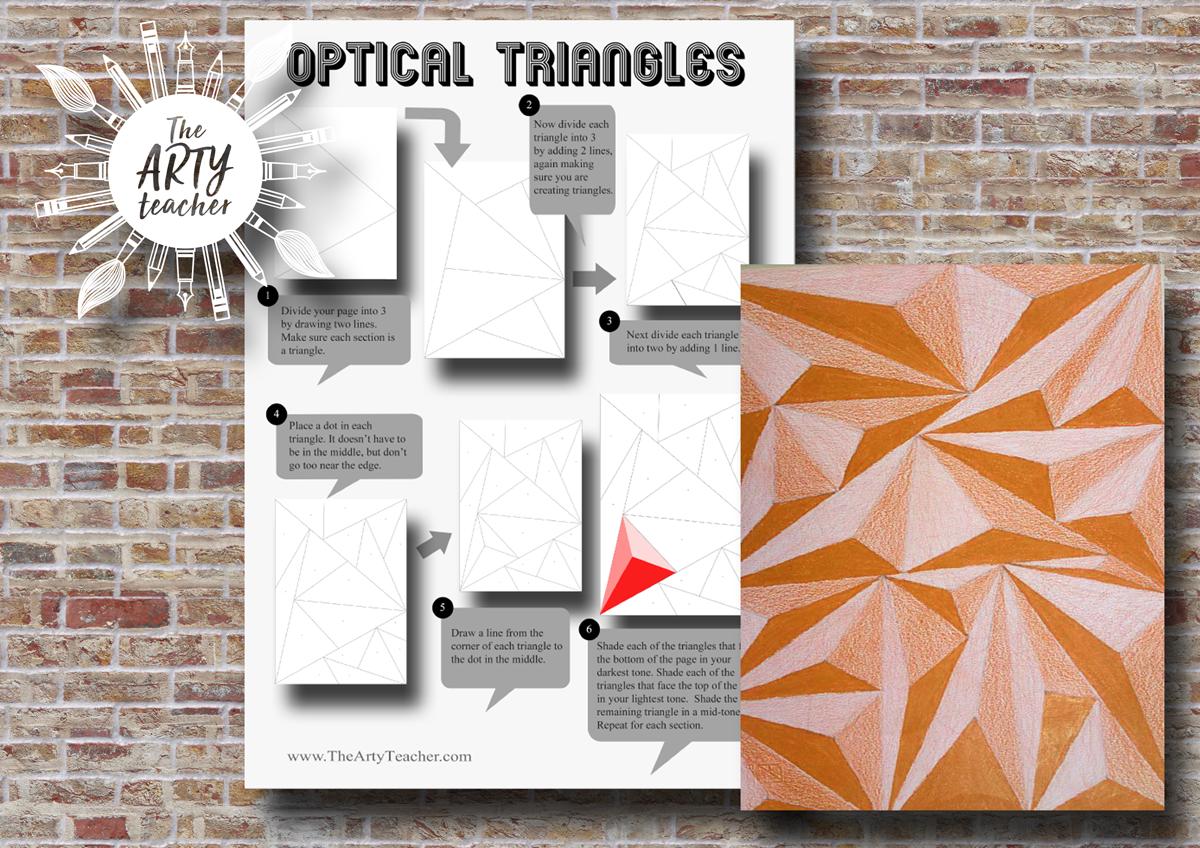 Optical Triangles Art Activity