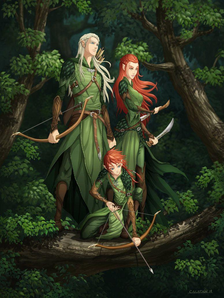 Legolas, Tauriel, and their son by hueco-mundo | rpg ...