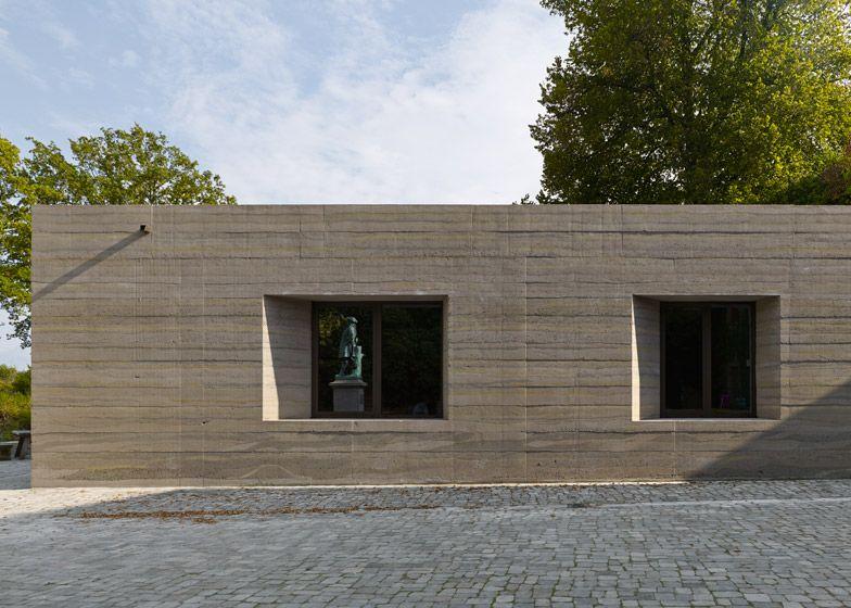 Sparrenberg Castle Visitor Centre Boasts Striated Concrete Walls Visitor Center Design Concrete Architecture Visitor Center
