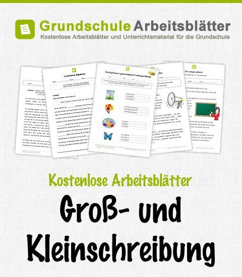 kostenlose arbeitsbl tter gro und kleinschreibung arbeitsbl tter schule lernen deutsch. Black Bedroom Furniture Sets. Home Design Ideas