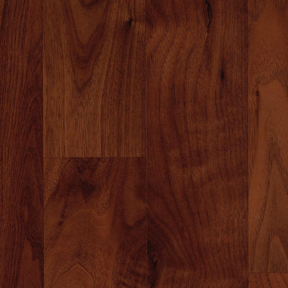 Brentmore Russet Walnut Laminate Flooring 5 In X 7 In Take Home Sample Dark Walnut Laminate Flooring