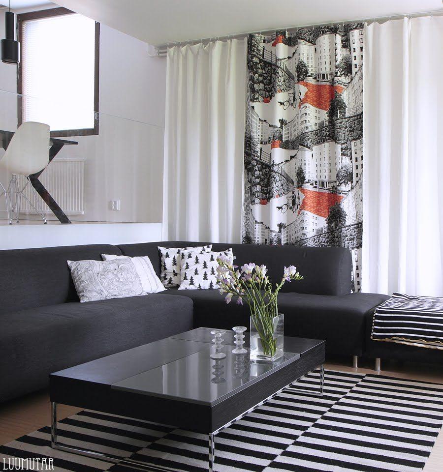 Vallila Bulevardi verhot  Ideoita  Pinterest  Verhot,Makuuhuone ja Kotiin