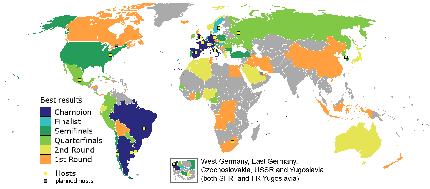 All World Cup Winners Share Borders With Each Other World Cup Winners Fifa World Cup World Cup
